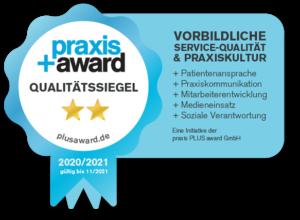 Praxis PlusAward Qualitaetssiegel